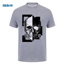 GILDAN New Summer Famous Brand PP Skull T Shirt Men Plus Size