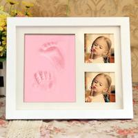 Baby Handprint Footprint Maker Non Toxic Newborn Imprint Hand Inkpad Watermark With Frame Infant Souvenirs Toys Gift Hot Sale