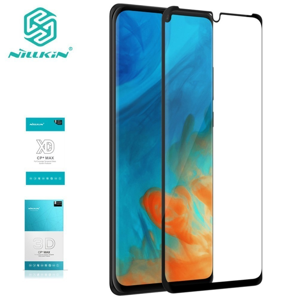 Para Huawei P30 XD vidrio templado para Huawei P30 Pro 3D vidrio templado Nillkin CP + Max Protector de pantalla completa
