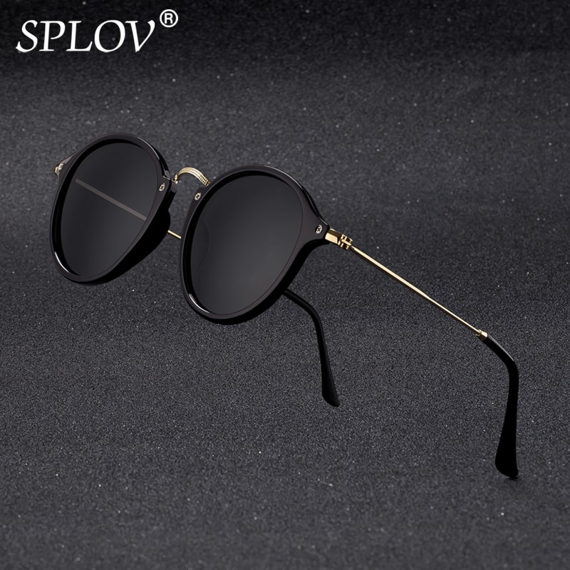 SPLOV Round Sunglasses coating Retro Men women Brand Designer Vintage mirrored