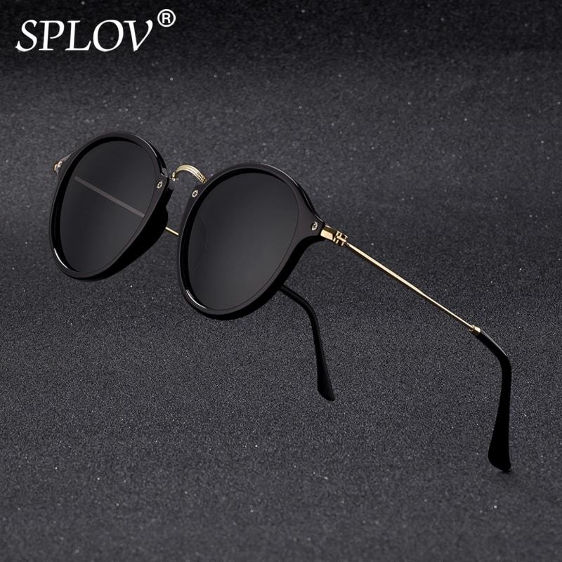 Nouveauté Ronde revêtement pour lunettes de soleil Rétro homme femme Marque lunettes de soleil de créateur Cru verres miroir
