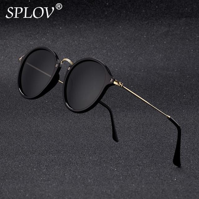 Nueva llegada ronda gafas de sol recubrimiento Retro de las mujeres de los hombres, diseñador de marca, gafas de sol Vintage espejo gafas