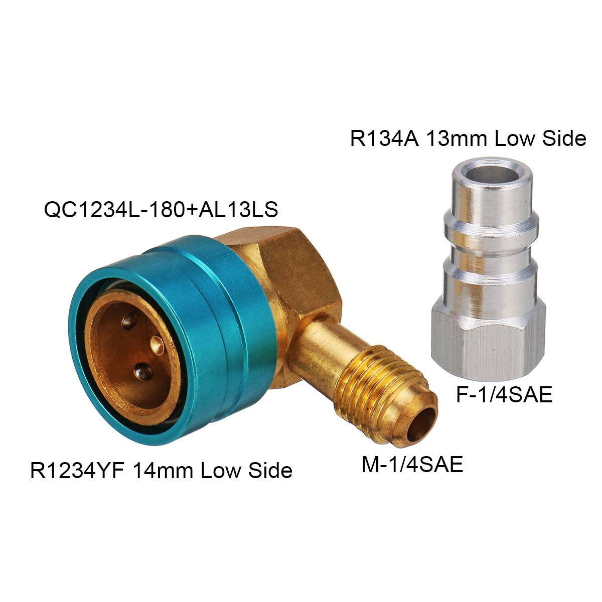R1234YF to R134A Low Side Quick Coupler Adapter Car Air Conditioning Fitting