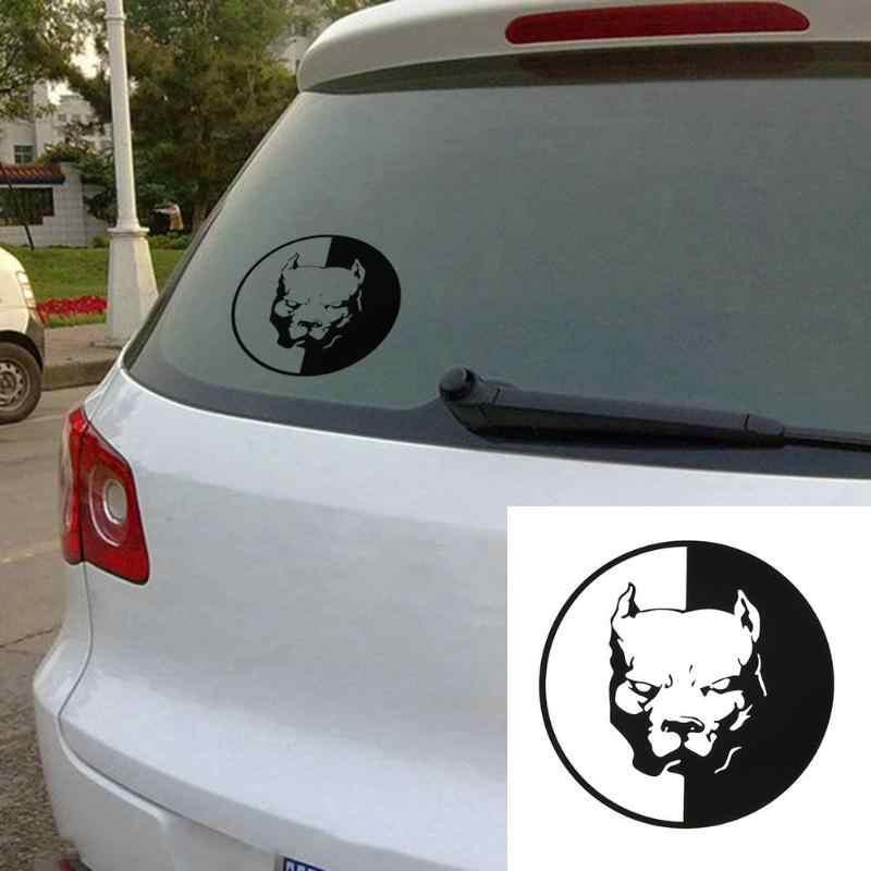 1 pçs à prova dwaterproof água pitbull cão bulldog carro adesivo decoração acessórios decalque do carro estilo automático decalques do carro adesivos
