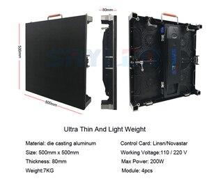 Image 5 - 500x500mm indoor rgb led scherm p3.91 indoor gegoten aluminium kast voor verhuur reclame video wall led scherm