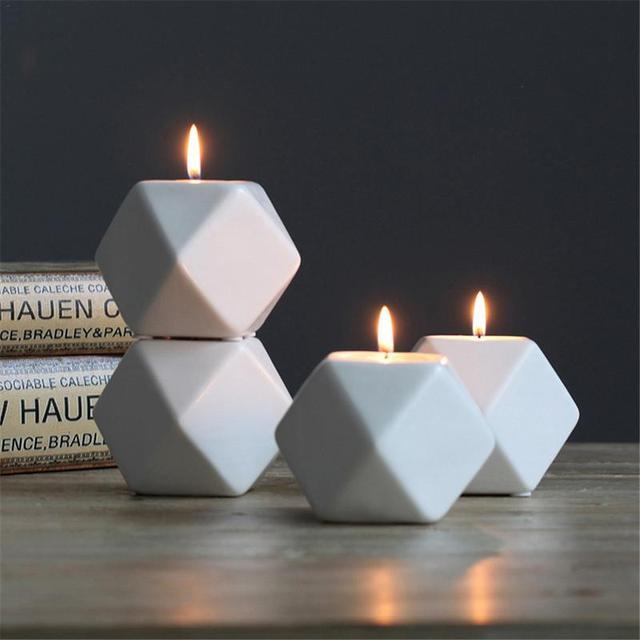 Nordic Geometric Candle Holders