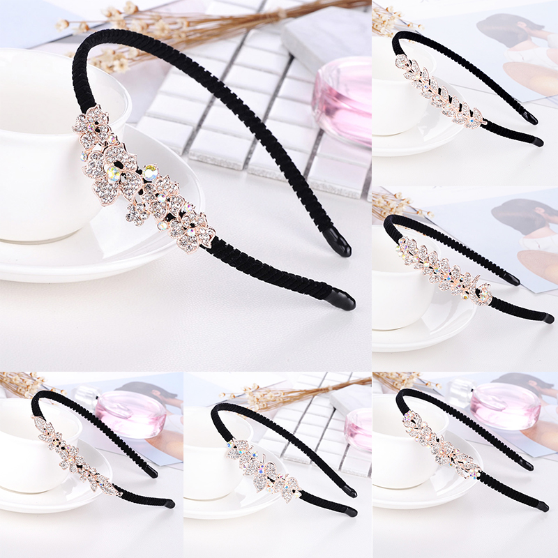 NEW FLOWER HAT Bow Hair Clip Girl Ladies Fashion Shining Diamante Crystal