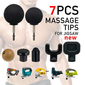 new 7pcs Replaceable Percussion deep Massage gun Tips For Jigsaw Massager Bit Tip Set Body Muscle Massager - DISCOUNT ITEM  0% OFF All Category