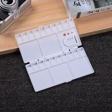 Откидные складные инструменты для рисования палитра белые товары для рукоделия коробка для рисования PP акварельный лоток 25 решеток большой