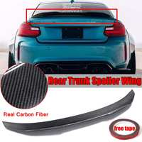 PSM Style For BMW F22 Real Carbon Fiber Car Trunk Spoiler Wing For BMW F22 M235i F87 M2 2014 2018 Car Rear Lip Wing Spoiler
