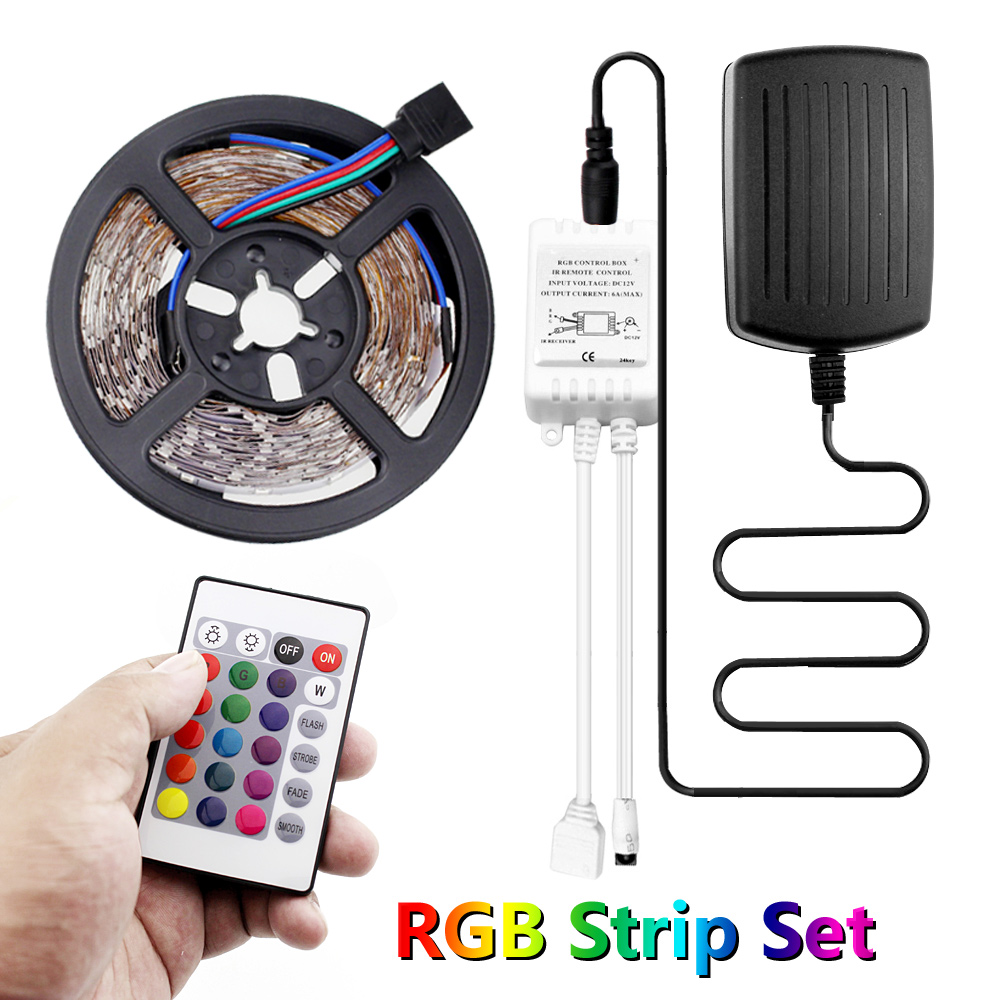 Listwy Rgb Led Light 12 v 5m Smd 2835 RGB Led listwa oświetleniowa wodoodporna Fita Led Rgb wstążka Epistar 60 diod Led/m Ledstrip 12 v Ruban