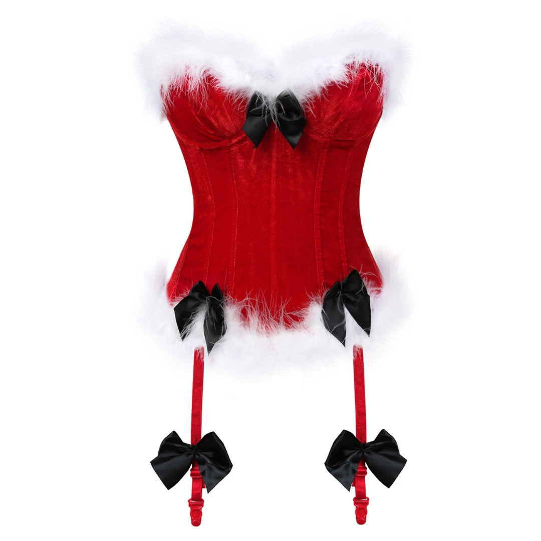 2018 New Arrival Chirstmas   Corset   Tops Steel Boned Sexy Red   Bustier     Corset   Top Chest Binder