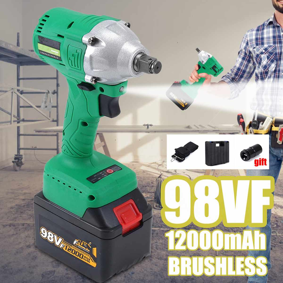 460Nm 220V Cordless Electric Impact Wrench 1/2 Brushless Socket Wrench Screw Driver Auto Car Repair Tool Rechargable Battery460Nm 220V Cordless Electric Impact Wrench 1/2 Brushless Socket Wrench Screw Driver Auto Car Repair Tool Rechargable Battery
