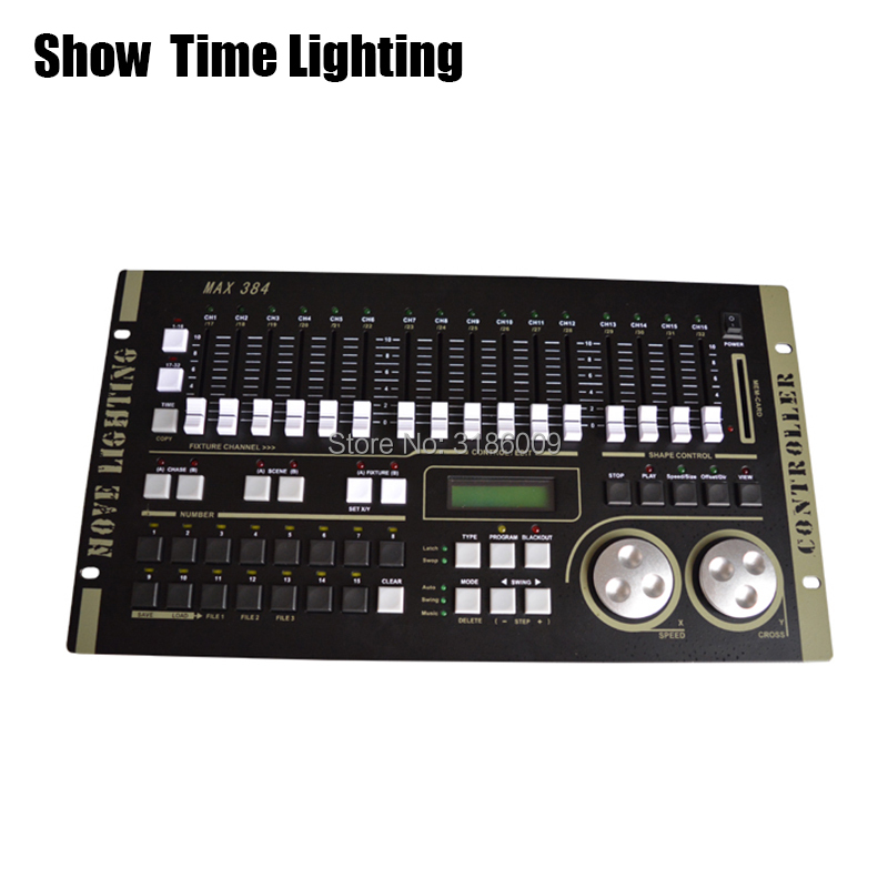 SHOW TIME Max 384 DMX Controller Stage Light DMX Master Console For XLR-3 Led Par Beam Moving Head DJ Light Stage Effect Light