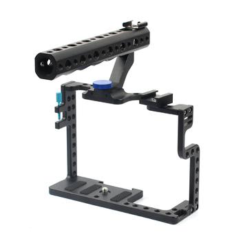 Klatka operatorska stabilizator kamery z górnym uchwytem do aparatu Panasonic Lumix GH5 zestaw do studia fotograficznego tanie i dobre opinie BGNing Metal Lustrzanek cyfrowych 20577 Cage Panasonic GH5 Hard Bag