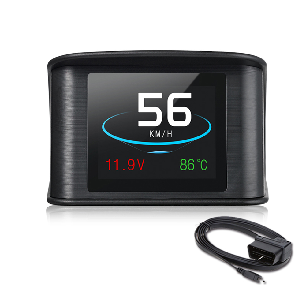 Car HUD TFT LCD Heads Up Display OBD Scanner OBD2 Digital Speedometer Detector