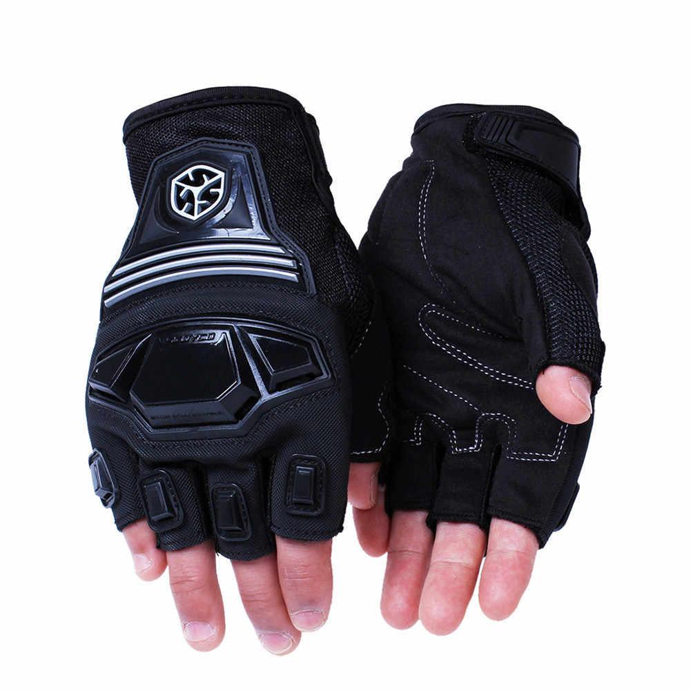 SCOYCO 指なしモト保護オートバイ手袋乗馬バイク自転車モーターモトクロスグローブ Mtb サイクリング自転車スポーツ手袋