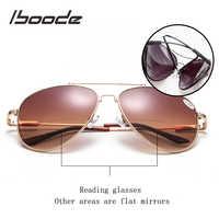 Iboode bifocal leitura óculos de sol feminino diopter óculos polarizados presbiopia diopter + 1.0 + 1.5 2.0 + 2.5 3.0 a1