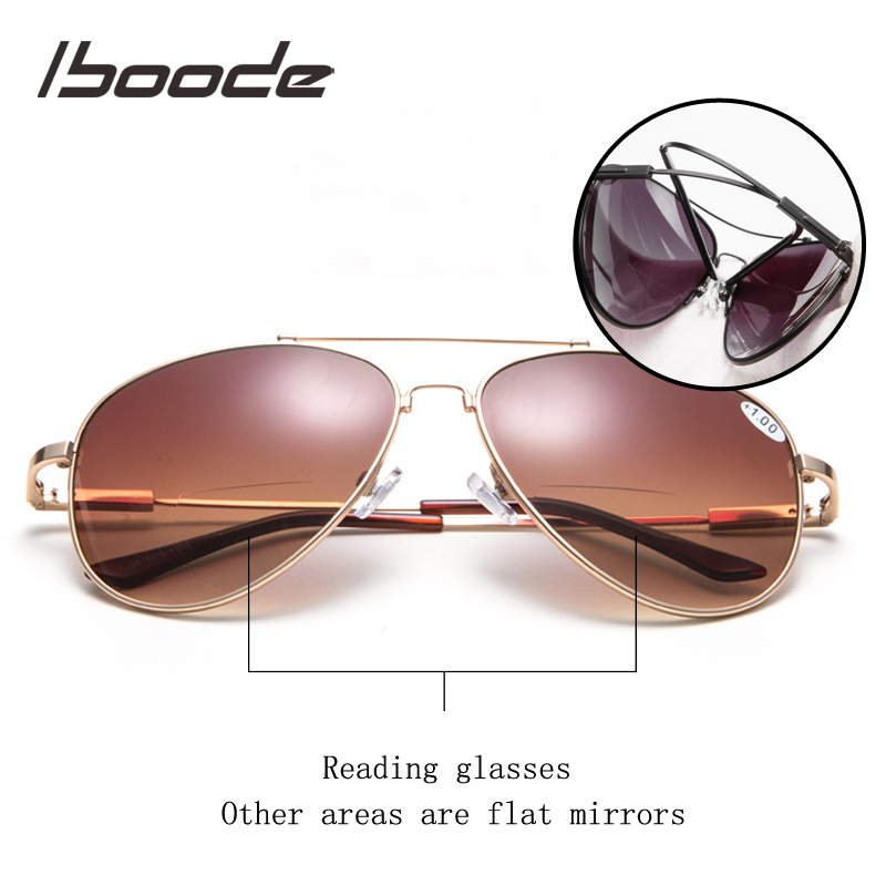 Iboode Bifocal Reading Sunglasses Women Men Diopter Glasses Polarized Presbyopic Eyeglasses Diopter +1.0+1.5+2.0+2.5+3.0 A1