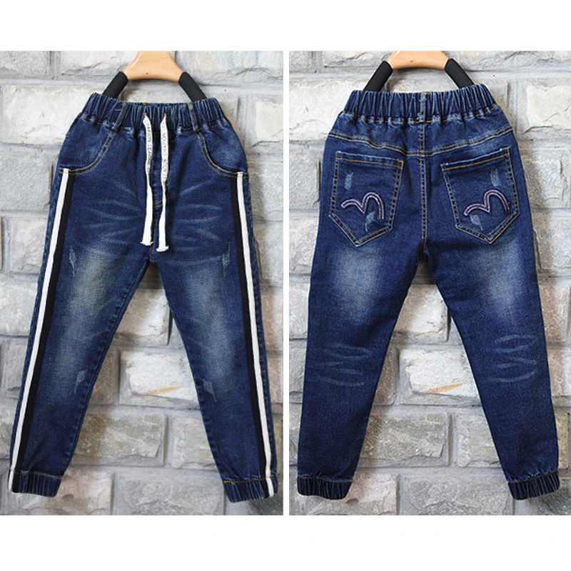 Image 4 - Джинсы для мальчиков ограниченной Свободные Однотонная повседневная обувь на осень джинсы для мальчиков детские модные джинсы, для От 3 до 5 лет От 6 до 14 лет-in Джинсы from Мать и ребенок