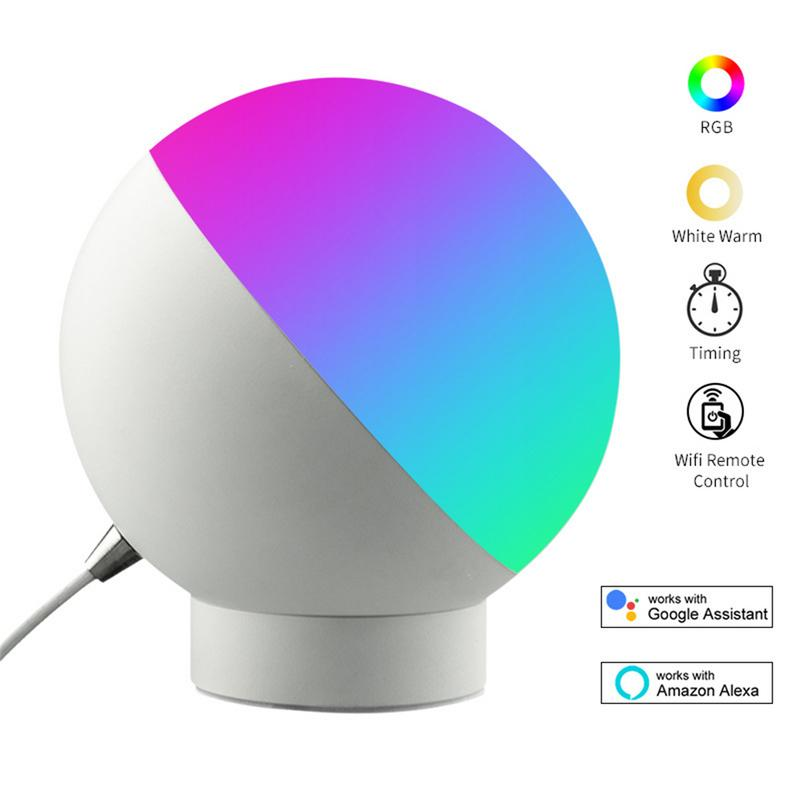 Smart LED Light Desk Lamp Wifi Dimmable 16 Million Colors Timer Music Lights Alexa Google Home Mini Table Night Lamps LED