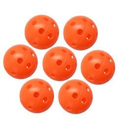 Смешанный перфорированный мяч тренировочный полый воздушный поток Практика Гольф пластик 1 шт
