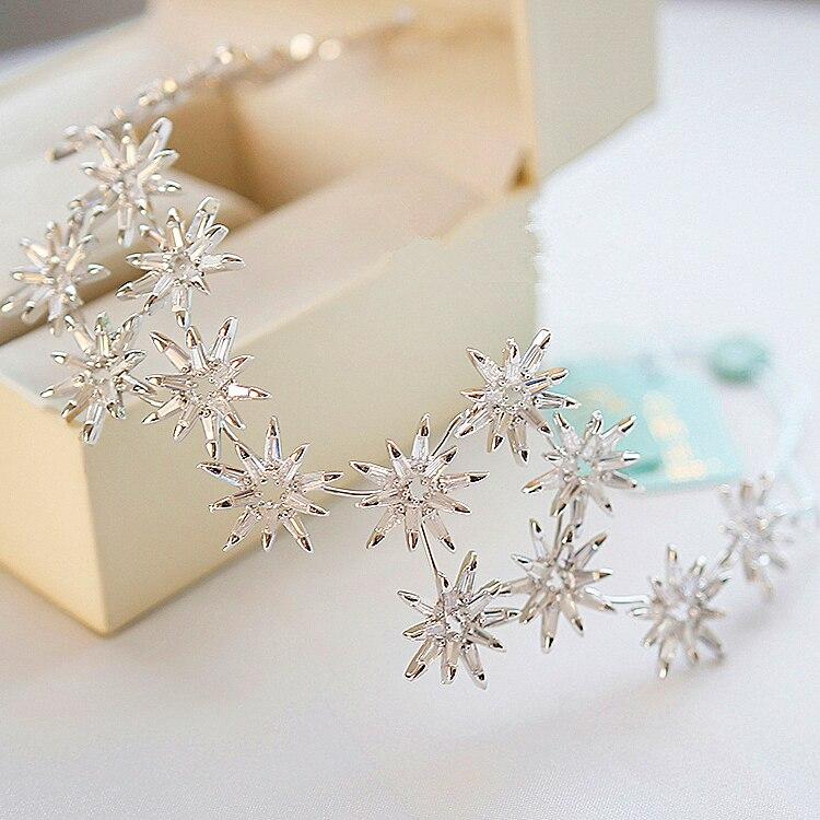 Micro Paved All Cubic Zircon Tiara Star Zirconia Crown Wedding Hair Accessories Bride CZ Coroa Novia