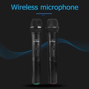 Image 3 - 2 Chiếc 268.85 MHz/262.85 MHz Thông Minh Micro Không Dây Màu Đen Cho Phòng Thu Âm Karaoke Cầm Tay Mic Hát Karaoke Với USB đầu Thu