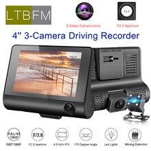 LTBFM Car DVR 3 way Cameras Lens 4 0 Inch Car DVR Camera Video Recorder Rear