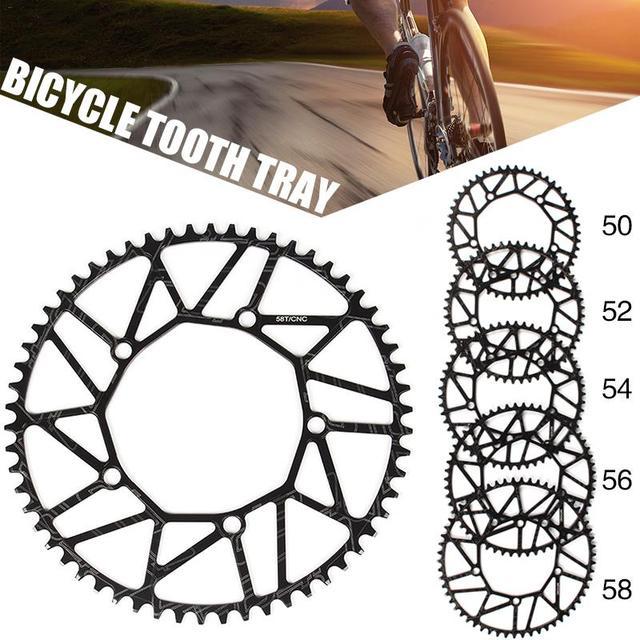 Ультра легкий 50 52/54/56/58 одноцепное кольцо BCD130mm горные велосипеды шатун для дорожного велосипеда Звездочка педального узла бензопила Кривош...