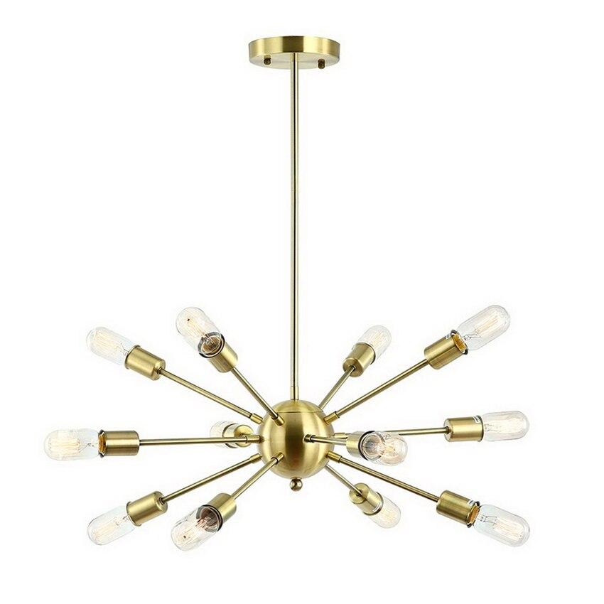 ヴィンテージ真鍮スプートニクシャンデリアモダンなライトライトハンギングリビングルームのホームデコダイニングキッチン器具照明器具