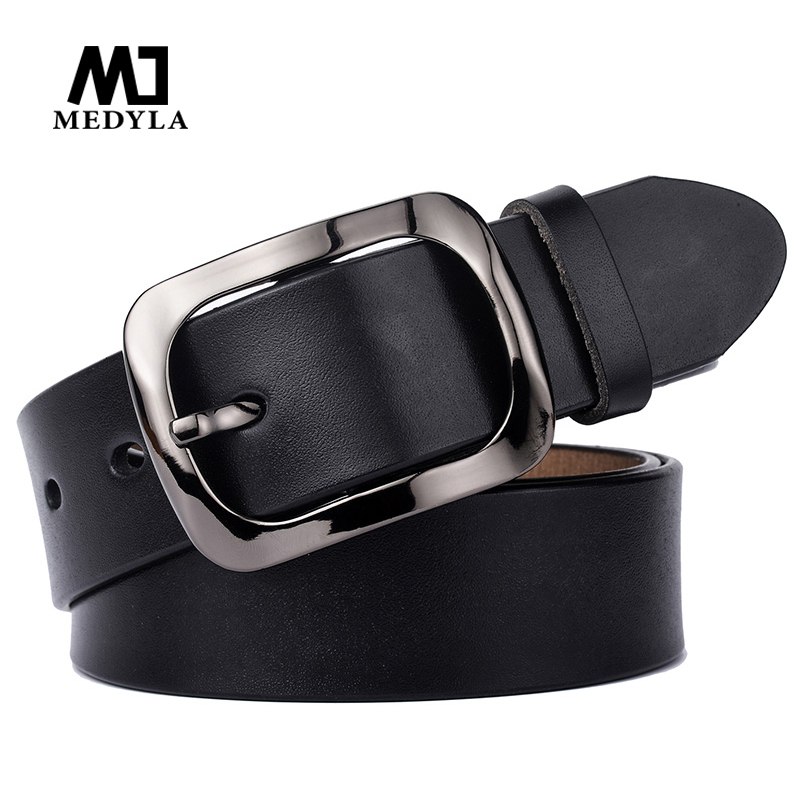 MEDYLA Fashion Natural Leather Women's Belt High Quality Cowhide Without Interlayer Belt Jeans Dress Casual Pants Belt Dropship