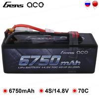 Gens ace 4S 6750mAh Lipo 14.8V Battery Pack 70C XT90 T Plug for Traxxas X maxx 1/8 Car Lipo Batteria Quad Drone Boat