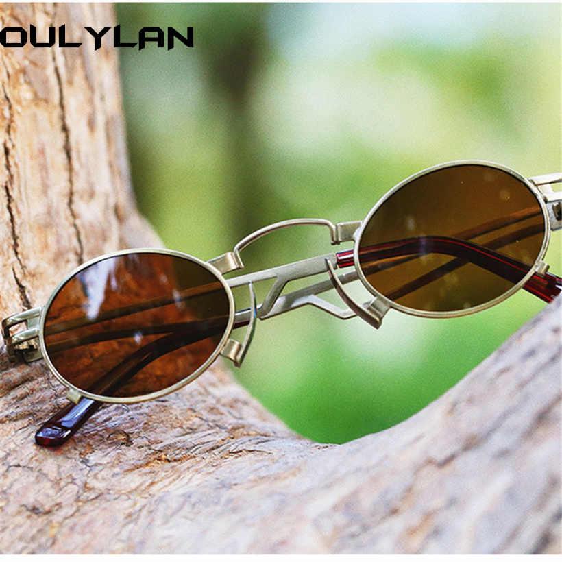 Oulylan, маленькие стимпанк Солнцезащитные очки для женщин и мужчин, винтажный, готический, в стиле панк, солнцезащитные очки, металлический бренд, дизайнерские женские модные очки UV400