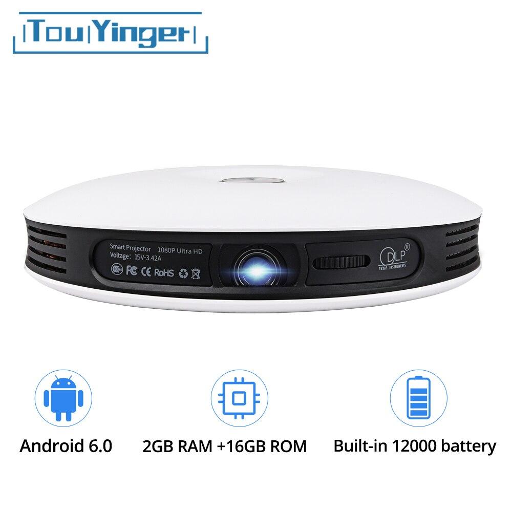 TouYinger G4 200 ''Mini Portatile Android 3D Proiettore DLP Full HD 4 K video wifi Bluetooth 1280x800 HDMI HA CONDOTTO il Proiettore Home cinema