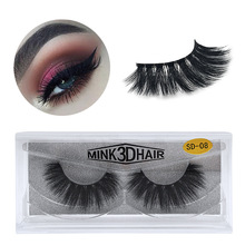 HUAPAN  Mink Lashes 3D Mink Eyelashes 100% Cruelty free Lashes Handmade Reusable Natural Eyelashes Popular False Lashes Makeup все цены