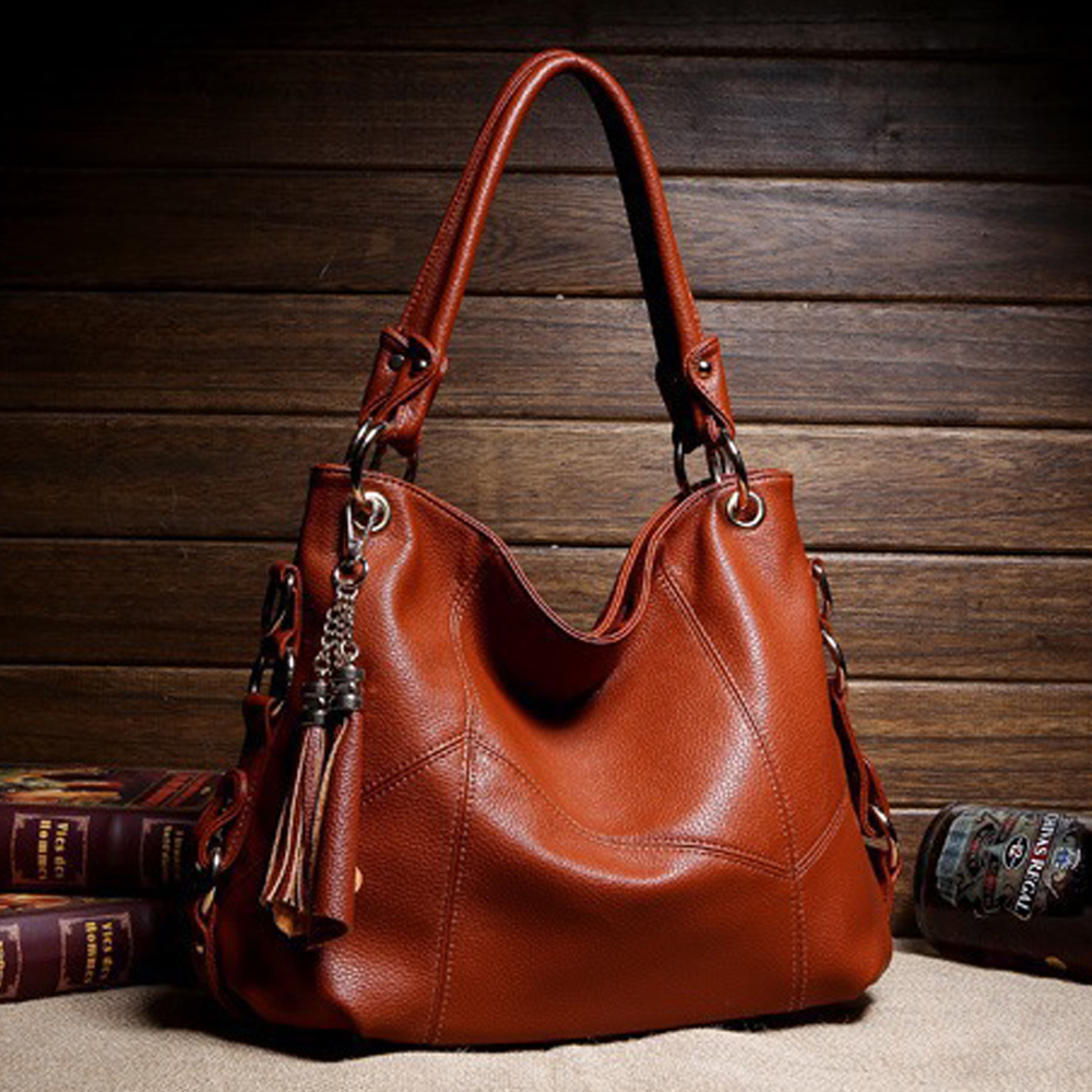 Luxury Handbags Women Messenger Bags Designer For Female Genuine Leather Bag Retro Tote Shoulder Bags Top-handle Bags Vintage