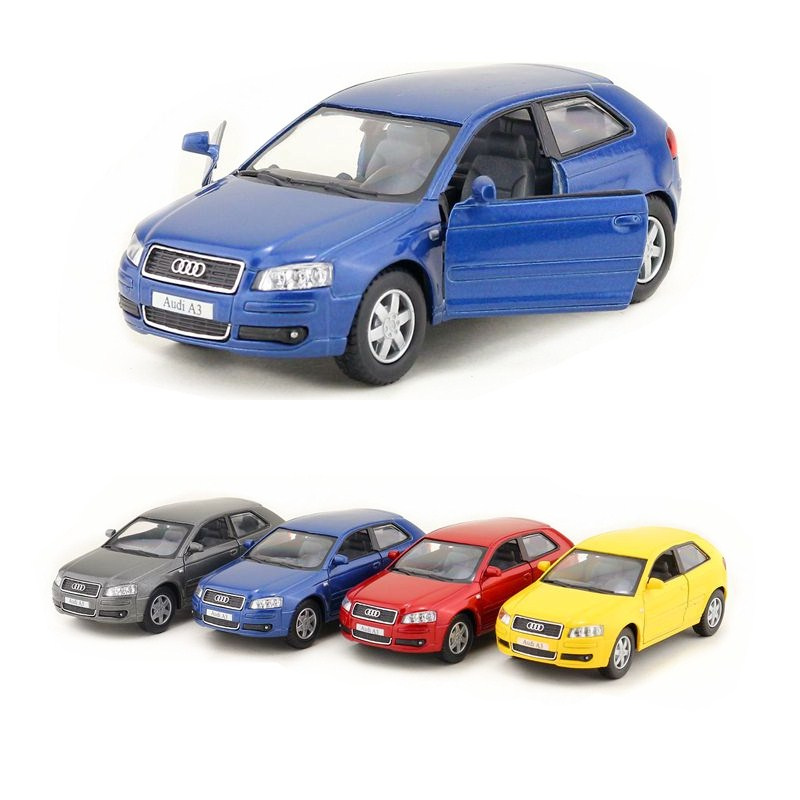 KINSMART DieCast Metal Model/1:32 Scale/<font><b>Audi</b></font> <font><b>A3</b></font> Super Sport/Pull Back <font><b>Toy</b></font> <font><b>Car</b></font>/Gift For Children/Educational Collection image