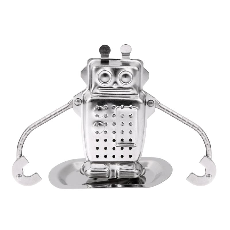 Stainless Steel Robot Rocket Monkey Shaped Loose Leaf Infuser Tea Filter Herbal Spice Strainer Diffuser Worldwide Store