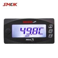 SMOK Universal Motorcycle Multi Function Mini 3 Digital Air Temperature Thermometer Time Voltmeter Water Meter Gauge For KOSO