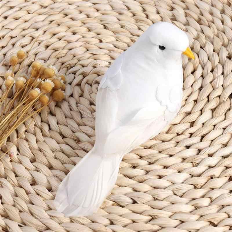 2 шт. милые искусственные перья птицы пена голуби с зажимами фото реквизит украшение дома