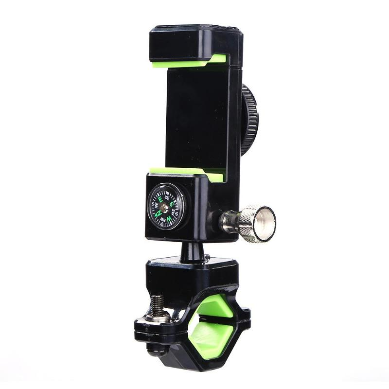 Multifunction Bike Motorcycle Handlebar Mobile Phone Mount Bicycle Holder Cycling Stand Clamp Support With Led Light Compass Profit Small Bicycle Accessories