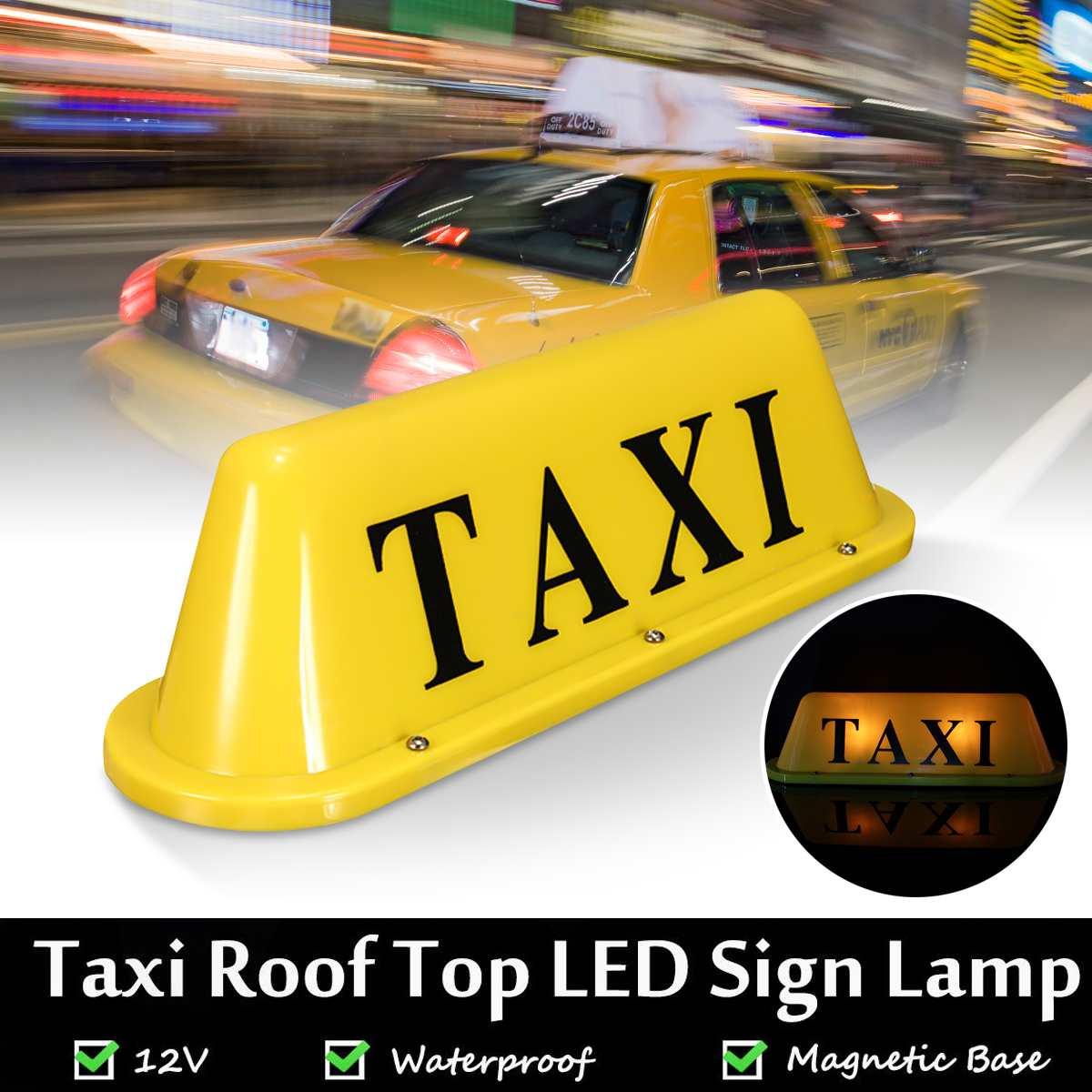À prova d' água LED 12 V Car Taxi Cab Topo Entre Lâmpada Luz Telhado Magnético Amarelo