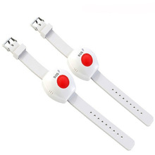 2pcs Panic Button RF 433mhz SOS Bracelet Emergency Button for Elderly Alarm Watch Old People GSM Home Security Alarm System