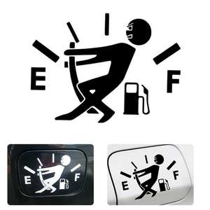 Decal Car-Stickers Pull-Fuel-Tank-Pointer Auto-Products Cartoon-Design Funny Universal