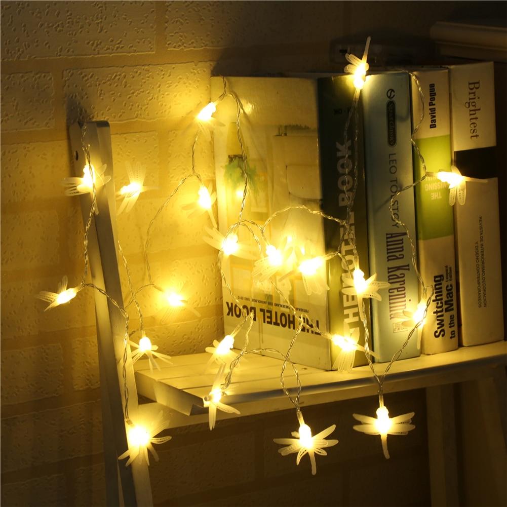 Lights & Lighting 100% Quality Dragonfly String Light 1.5m-10m,10l/20l/40l/96l,3aa/31v Us/eu Room Weding Party Wall Window Home Decoration Children Night Lamp