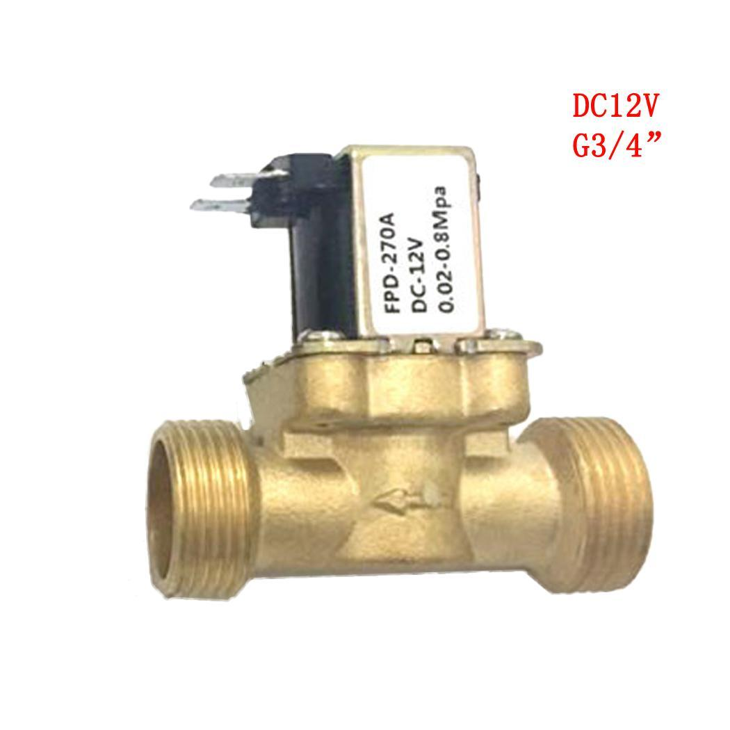 Electric Solenoid Valve Water Normally Closed Air Inlet 3/4inch Flow DC 12V, DC 24V, AC 220V Gold Switch