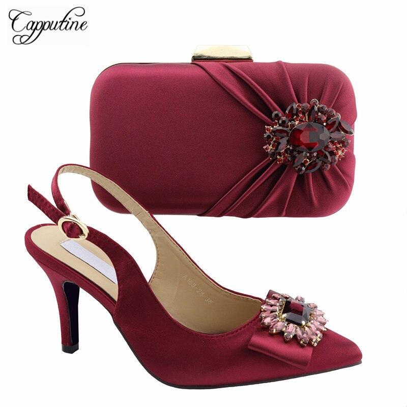 3abe9ac1e5 Chaussures 6 Talons Hauts 9 Cm vert Pour A168 Et Sacs Ensemble New Mode Vin  African Mariage Femme Le bleu Couleur Correspondant Noir Italie ...