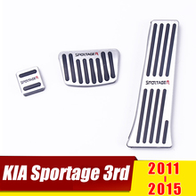 For KIA Sportage 3rd 2011 2012 2013 2014 2015 AT Car Accelerator Brake Pedal Clutch Pedals Pads Non-Slip Cover Case Accessories недорого