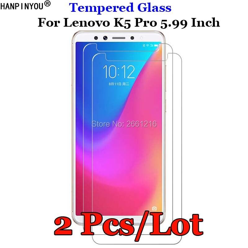 2 Pcs/Lot For Lenovo K5pro Tempered Glass 9H 2.5D Premium Screen Protector Film For Lenovo K5 Pro L38041 5.99
